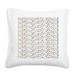 23 Amazon River Fish pattern Square Canvas Pillow