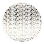 23 Amazon River Fish pattern Round Car Magnet