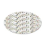 23 Amazon River Fish pattern Oval Car Magnet