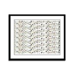 23 Amazon River Fish pattern Framed Panel Print