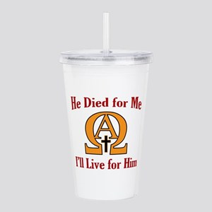 Live For Jesus Acrylic Double-wall Tumbler