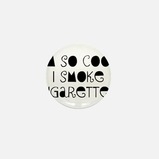 Cigarette Smoke Mini Button