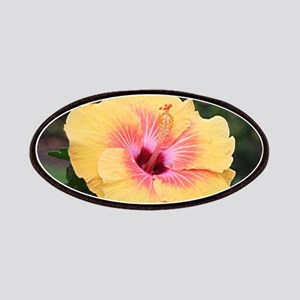 Pink yellow hibiscus flower Patch