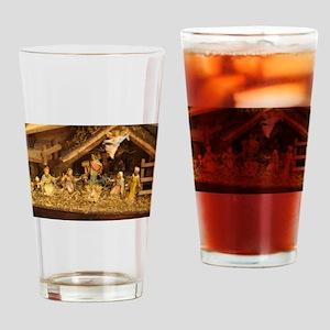 traditional nativity scene Drinking Glass