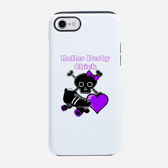 Roller Derby Chick (Purple) iPhone 8/7 Tough Case