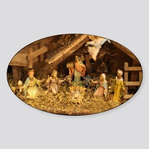 traditional nativity scene Sticker
