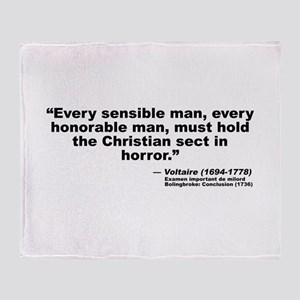 Voltaire Christian Throw Blanket