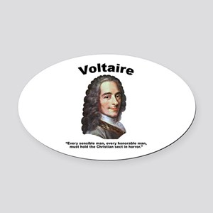Voltaire Christian Oval Car Magnet