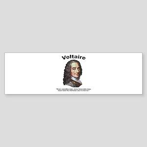 Voltaire Christian Sticker (Bumper)