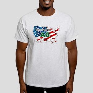 My Job Depends on Ag USA Light T-Shirt