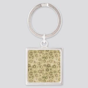 Jewish Blessings Square Keychain