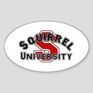 Squirrel University Oval Sticker