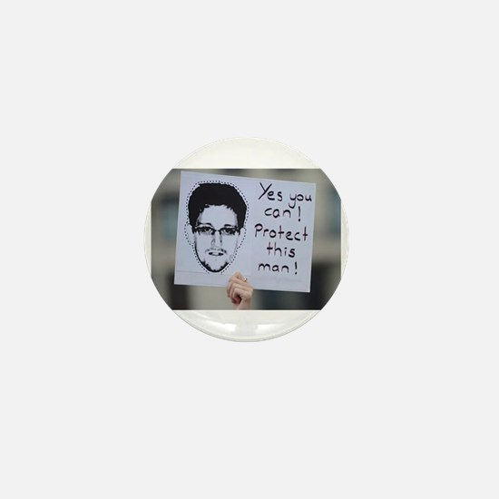 Cute Edward snowden Mini Button