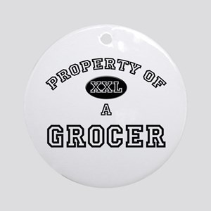 Property of a Grocer Ornament (Round)