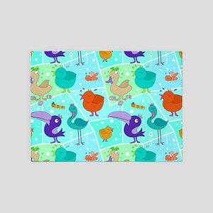 Bird Paradise 5'x7'Area Rug