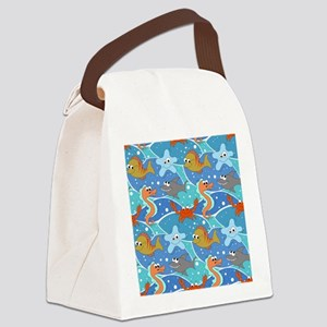 Catch Me Underwater Canvas Lunch Bag