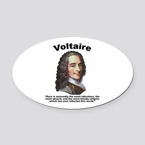 Voltaire Bloody Oval Car Magnet