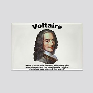 Voltaire Bloody Rectangle Magnet