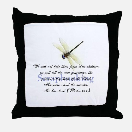 Faithbooking Throw Pillow