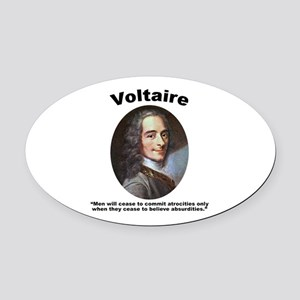 Voltaire Absurd Oval Car Magnet