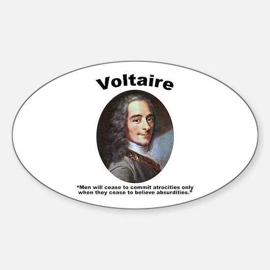 Voltaire Absurd Sticker (Oval)