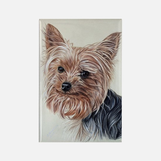 Adorable Yorkie Rectangle Magnet Magnets