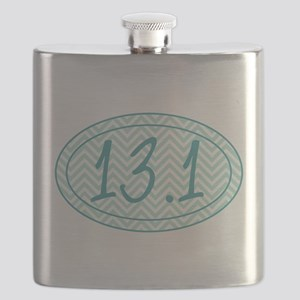 13.1 Blue Chevron Flask