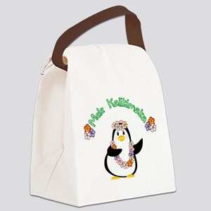 Mele Kalikimaka Penguin Canvas Lunch Bag