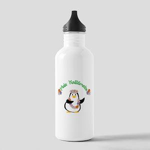 Mele Kalikimaka Penguin Water Bottle