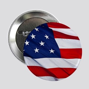 """United States Flag in All Her Glory 2.25"""" Button"""