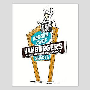Vintage Burger Chef Sign Posters