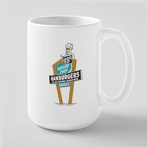 Vintage Burger Chef Sign Mugs