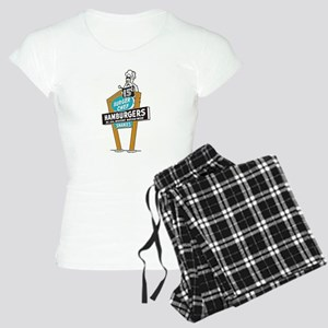 Vintage Burger Chef Sign Pajamas