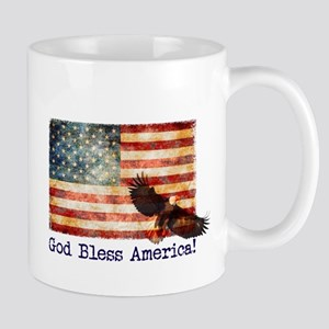 American Flag God Bless America Eagle Mugs