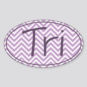 Tri Purple Chevron Sticker