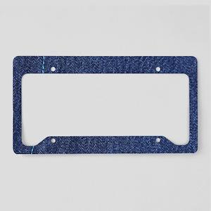 Denim License Plate Holder