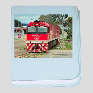 The Ghan train locomotive, Australia baby blanket