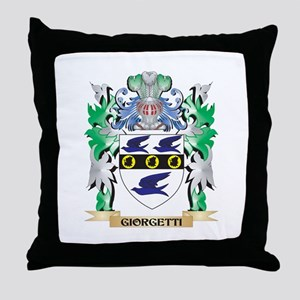 Giorgetti Coat of Arms (Family Crest) Throw Pillow
