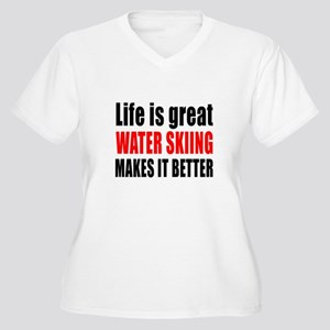 Life is great Wat Women's Plus Size V-Neck T-Shirt
