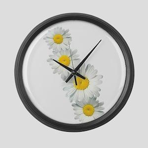 Shasta Daisies Large Wall Clock