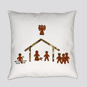 gingerbread nativity Everyday Pillow