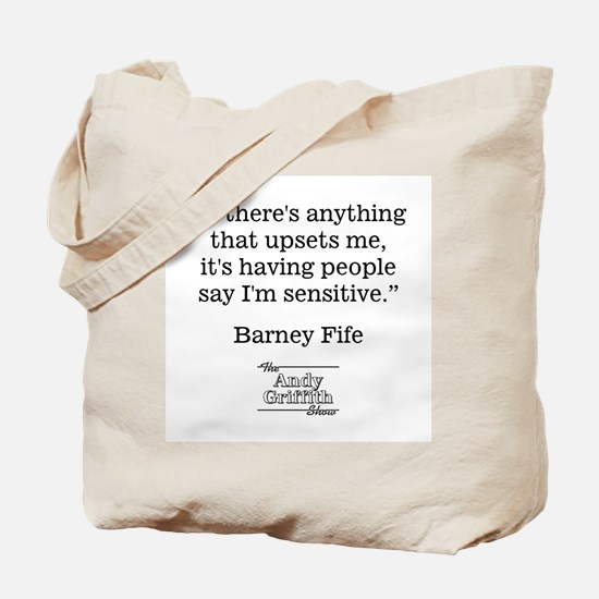 BARNEY FIFE QUOTE Tote Bag