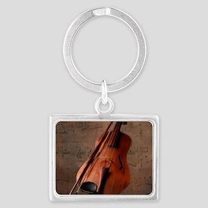 Painted Vintage Violin Keychains