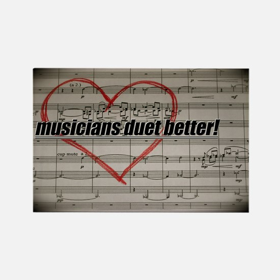 Musicians Duet Better Rectangle Magnet (10 pack)