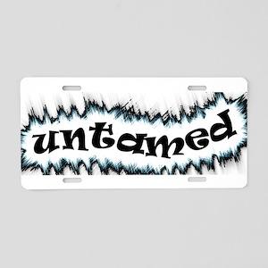 untamed Aluminum License Plate