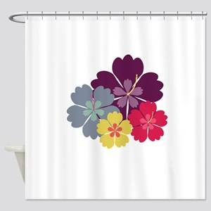 Colourful hibiskus flowers Shower Curtain