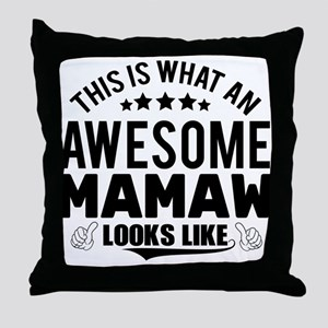 THIS IS WHAT AN AWESOME MAMAW LOOKS LIKE Throw Pil