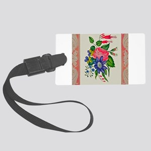 Victorian Flowers Large Luggage Tag