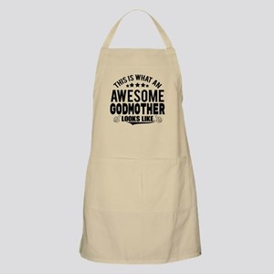 THIS IS WHAT AN AWESOME GODMOTHER LOOKS LIKE Apron