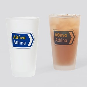 Athens, Greece Drinking Glass